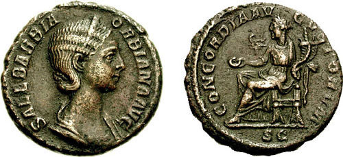 orbiana roman coin as